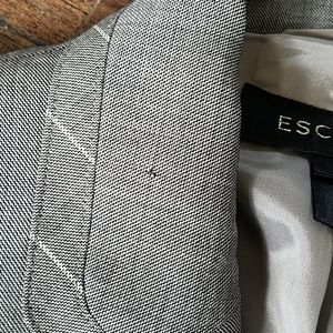 Escada Jackets & Coats - Escada gray, striped trim tailored jacket 36